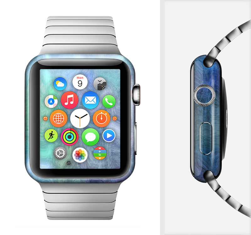 The Vivid Blue Sagging Painted Surface Full-Body Skin Set for the Apple Watch