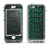 The Vivid Green Crocodile Skin Apple iPhone 5-5s LifeProof Nuud Case Skin Set