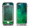 The Vivid Green Sagging Painted Surface Apple iPhone 5-5s LifeProof Nuud Case Skin Set