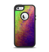 The Vivid Neon Colored Texture Apple iPhone 5-5s Otterbox Defender Case Skin Set