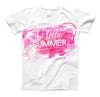 The Vivid Pink Hello Summer ink-Fuzed Unisex All Over Full-Printed Fitted Tee Shirt