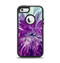 The Vivid Purple Flower Apple iPhone 5-5s Otterbox Defender Case Skin Set