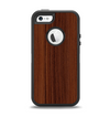 The Walnut WoodGrain V3 Apple iPhone 5-5s Otterbox Defender Case Skin Set