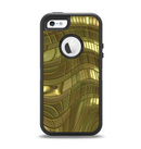 The Warped Gold-Plated Mosaic Apple iPhone 5-5s Otterbox Defender Case Skin Set