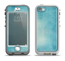 The WaterColor Blue Texture Panel Apple iPhone 5-5s LifeProof Nuud Case Skin Set