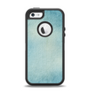 The WaterColor Blue Texture Panel Apple iPhone 5-5s Otterbox Defender Case Skin Set