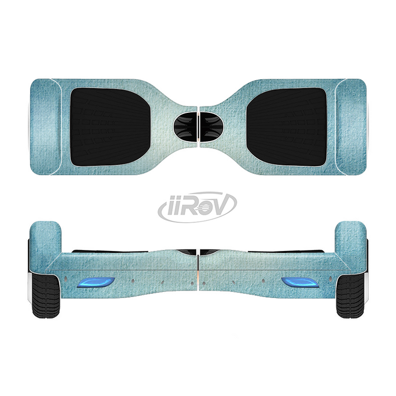 The WaterColor Blue Texture Panel Full-Body Skin Set for the Smart Drifting SuperCharged iiRov HoverBoard