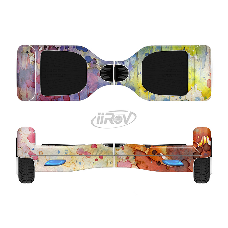 The WaterColor Grunge Setting Full-Body Skin Set for the Smart Drifting SuperCharged iiRov HoverBoard
