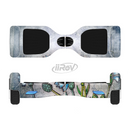 The Watercolor Blue Vintage Flowers Full-Body Skin Set for the Smart Drifting SuperCharged iiRov HoverBoard