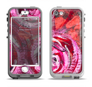 The Watercolor Bright Pink Floral Apple iPhone 5-5s LifeProof Nuud Case Skin Set