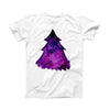 The Watercolor Evergreen Tree ink-Fuzed Front Spot Graphic Unisex Soft-Fitted Tee Shirt