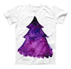 The Watercolor Evergreen Tree ink-Fuzed Unisex All Over Full-Printed Fitted Tee Shirt
