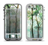 The Watercolor Glowing Sky Forrest Apple iPhone 5-5s LifeProof Nuud Case Skin Set