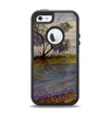 The Watercolor River Scenery Apple iPhone 5-5s Otterbox Defender Case Skin Set