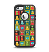 The Weird Abstract EyeBall Creatures Apple iPhone 5-5s Otterbox Defender Case Skin Set