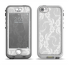 The White Floral Lace Apple iPhone 5-5s LifeProof Nuud Case Skin Set