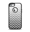 The White & Gradient Sharp Chevron Apple iPhone 5-5s Otterbox Defender Case Skin Set