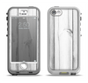 The White & Gray Wood Planks Apple iPhone 5-5s LifeProof Nuud Case Skin Set