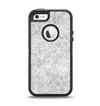 The White Textured Lace Apple iPhone 5-5s Otterbox Defender Case Skin Set
