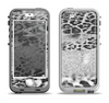 The White and Black Real Leopard Print Apple iPhone 5-5s LifeProof Nuud Case Skin Set