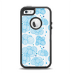 The White and Blue Raining Yarn Clouds Apple iPhone 5-5s Otterbox Defender Case Skin Set