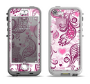 The White and Pink Birds with Floral Pattern Apple iPhone 5-5s LifeProof Nuud Case Skin Set