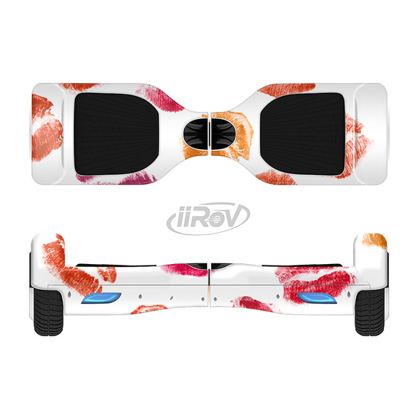 The White with Colored Pucker Lip Prints Full-Body Skin Set for the Smart Drifting SuperCharged iiRov HoverBoard
