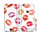 The White with Colored Pucker Lip Prints Sectioned Skin Series for the Apple iPhone 6/6s Plus