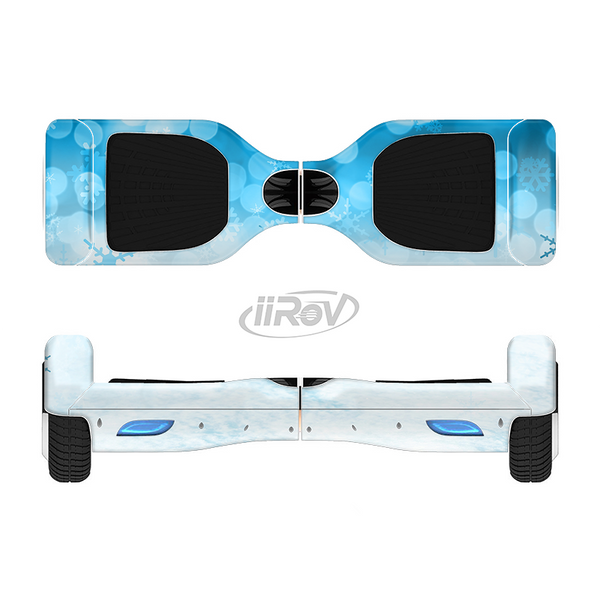 The Winter Blue Abstract Unfocused Full-Body Skin Set for the Smart Drifting SuperCharged iiRov HoverBoard