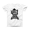 The Work Hard Stay Humble ink-Fuzed Front Spot Graphic Unisex Soft-Fitted Tee Shirt