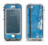 The Worn Blue Paint on Wooden Planks Apple iPhone 5-5s LifeProof Nuud Case Skin Set