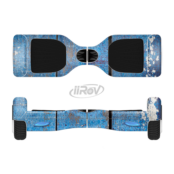 The Worn Blue Paint on Wooden Planks Full-Body Skin Set for the Smart Drifting SuperCharged iiRov HoverBoard