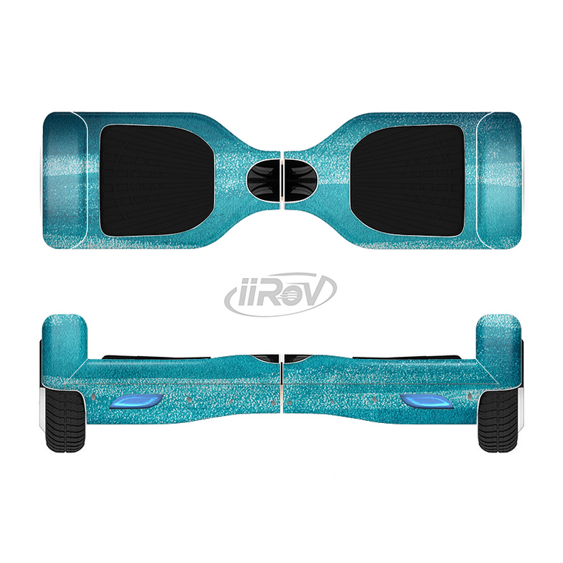 The Worn Blue Texture Full-Body Skin Set for the Smart Drifting SuperCharged iiRov HoverBoard