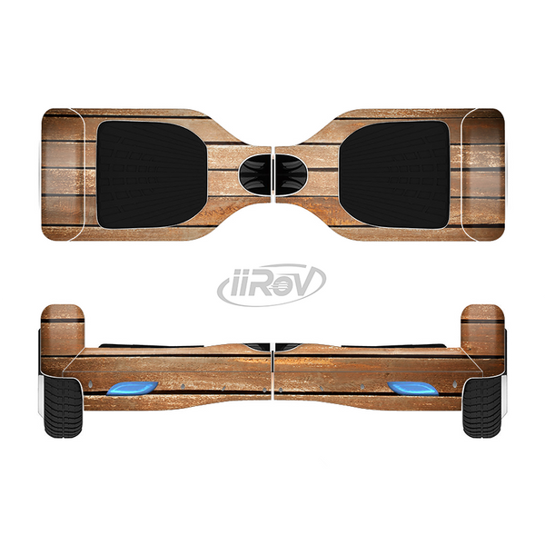 The Worn Wooden Panks Full-Body Skin Set for the Smart Drifting SuperCharged iiRov HoverBoard