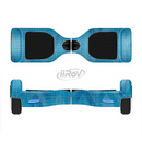 The Woven Blue Sharp Chevron Pattern V3 Full-Body Skin Set for the Smart Drifting SuperCharged iiRov HoverBoard