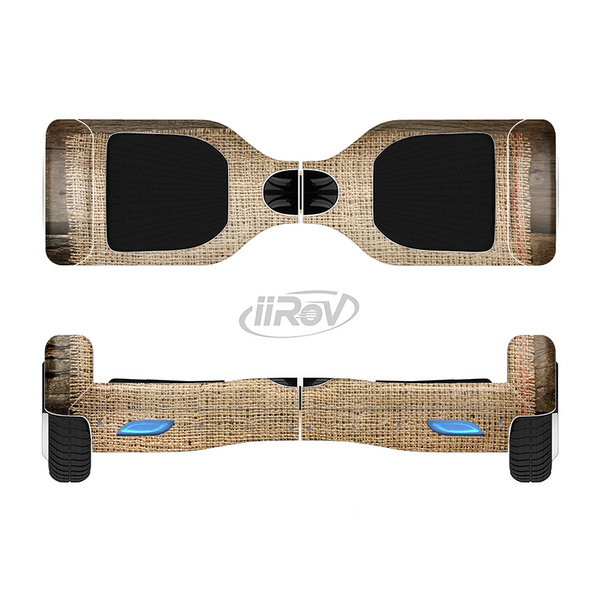 The Woven Fabric Over Aged Wood Full-Body Skin Set for the Smart Drifting SuperCharged iiRov HoverBoard