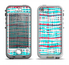 The Woven Trendy Green & Coral Apple iPhone 5-5s LifeProof Nuud Case Skin Set