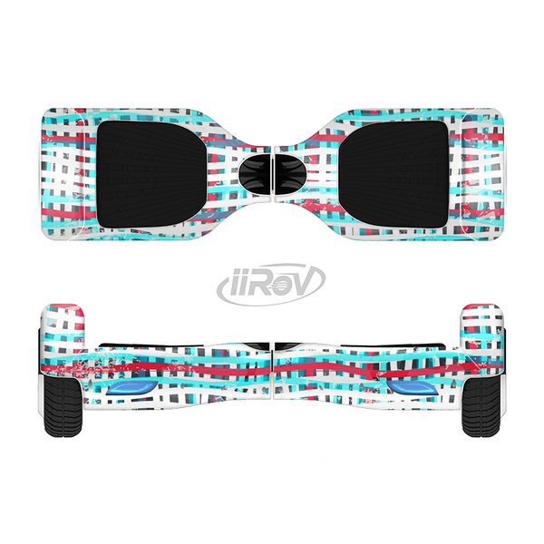 The Woven Trendy Green & Coral Full-Body Skin Set for the Smart Drifting SuperCharged iiRov HoverBoard