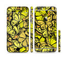 The Yellow Butterfly Bundle Sectioned Skin Series for the Apple iPhone 6/6s Plus