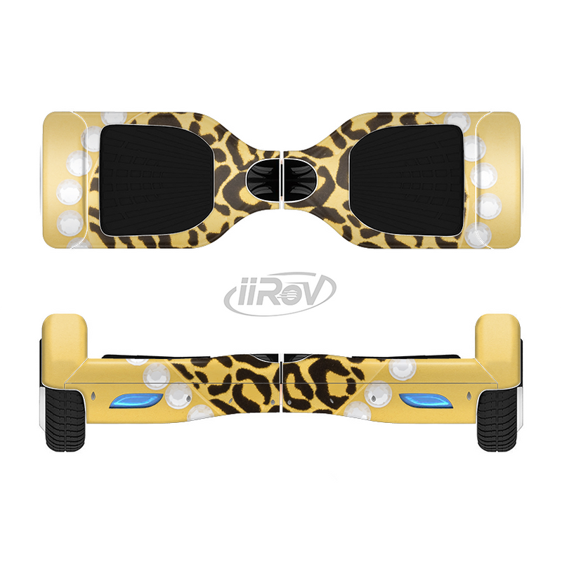 The Yellow Heart Shaped Leopard Full-Body Skin Set for the Smart Drifting SuperCharged iiRov HoverBoard