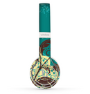 The Yellow Lace and Flower on Teal Skin Set for the Beats by Dre Solo 2 Wireless Headphones