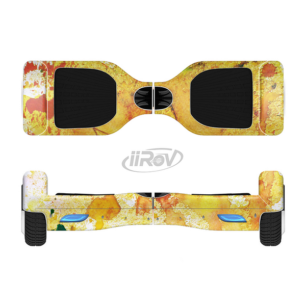 The Yellow Leaf-Imprinted Paint Splatter Full-Body Skin Set for the Smart Drifting SuperCharged iiRov HoverBoard