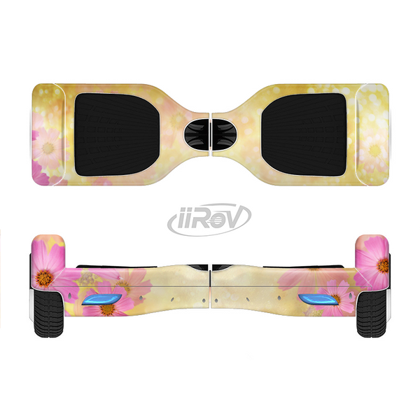 The Yellow & Pink Flowerland Full-Body Skin Set for the Smart Drifting SuperCharged iiRov HoverBoard