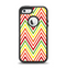 The Yellow & Red Vintage Chevron Pattern Apple iPhone 5-5s Otterbox Defender Case Skin Set