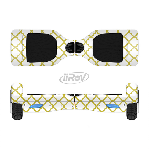 The Yellow & White Seamless Morocan Pattern V2 Full-Body Skin Set for the Smart Drifting SuperCharged iiRov HoverBoard
