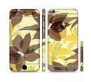 The Yellow and Brown Pastel Flowers Sectioned Skin Series for the Apple iPhone 6/6s Plus