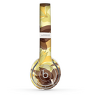 The Yellow and Brown Pastel Flowers Skin Set for the Beats by Dre Solo 2 Wireless Headphones