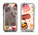 The Yummy Dessert Pattern Apple iPhone 5-5s LifeProof Nuud Case Skin Set