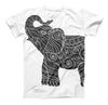 The Zendoodle Elephant ink-Fuzed Unisex All Over Full-Printed Fitted Tee Shirt