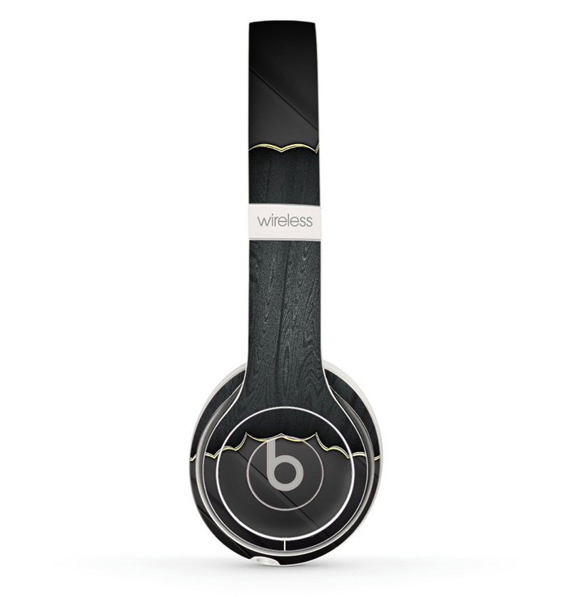 The Zig Zag Gray Wood Grain Skin Set for the Beats by Dre Solo 2 Wireless Headphones